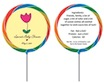 personalized flower lollipop