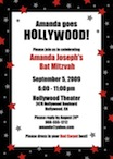 personalized hollywood theme invitation