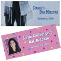 Personalized Bar and Bat Mitzvah banners