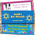 Bar and Bat Mitzvah candy bar wrappers