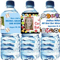 Personalized Bar and Bat Mitzvah water bottle labels