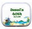 personalized luau theme candy tin