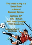 personalized soccer invitation