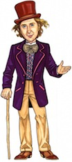 life size willy wonka cutout