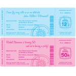 Retirement party boarding pass invitations and favors