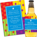 Retirement party invitations and favors