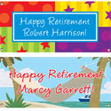 Retirement party theme banners
