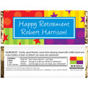 Retirement theme candy bar wrappers