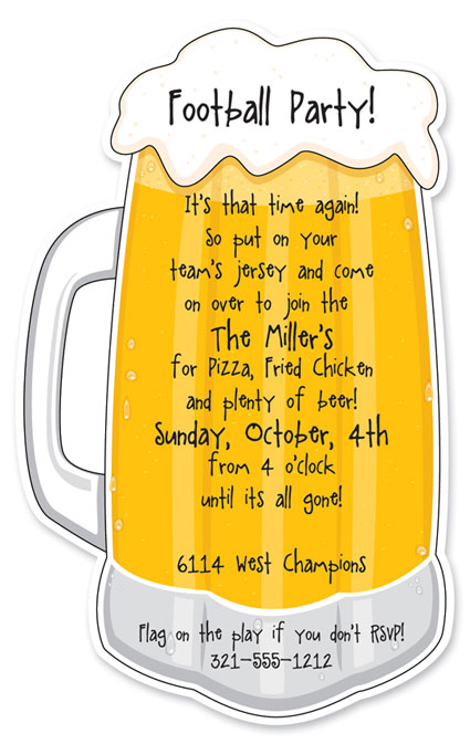 beer mug cheers. Beer Mug Die Cut Invitation