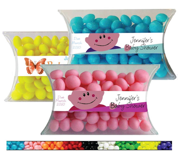 Baby Candy Pillow Packs, Gender Neutral / A baby shower favor with plenty of color choices