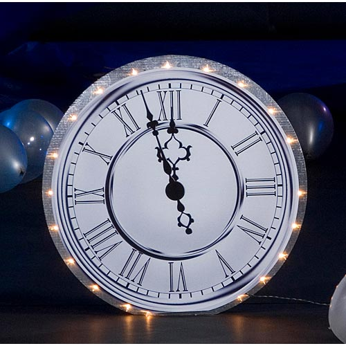 Lighted Clock Standee