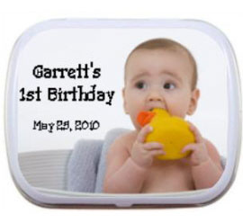 Birthday Photo Mint Tin / A photo favor is perfect for a 1st birthday