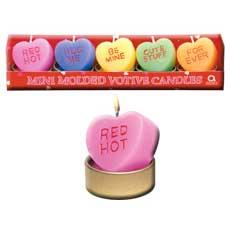 Mini Heart Candles