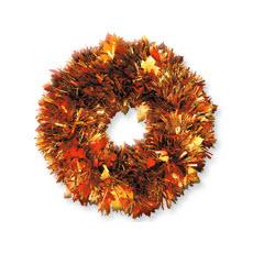 Fall Tinsel Wreath