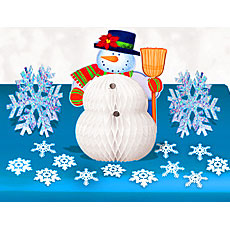 Snowman Table Decor Kit