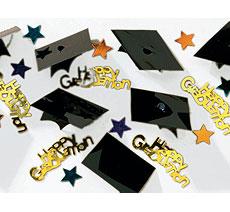 Graduation Caps 3-D Confetti