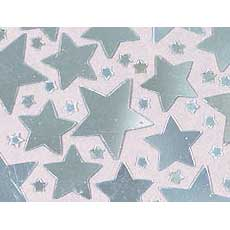 Silver Star Confetti Mix