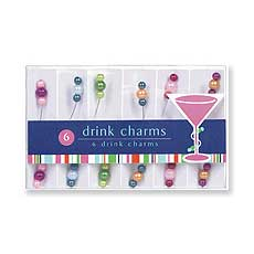 Beaded Drink Charms (6)