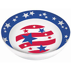 Patriotic Round Bowl