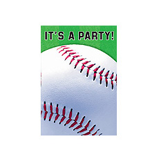 Baseball Fan Invitations