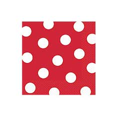 Red Dot Beverage Napkins