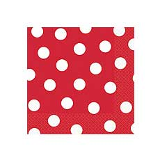 Red Dot Luncheon Napkins