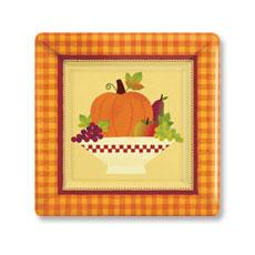 """Autumn 7"""" Plates (8)"""