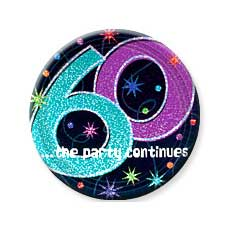 """Party  Continues 60th 7"""" Plates"""