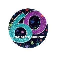 "60th Party 9"" Plates"