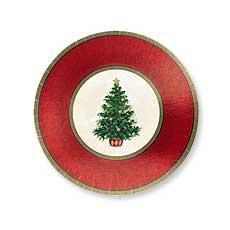 "Christmas Tree 7"" Plate (8)"