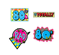 "80s 14"" Cutouts / Perfect 80s Theme Party accents!"