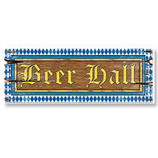 Beer Hall Sign Cutout