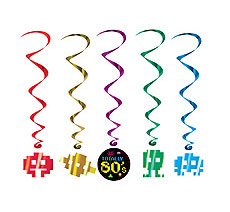 80s Swirl Danglers / Ceiling danglers, great for an 80s Theme Party!