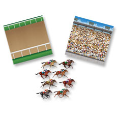 Horse Racetrack Scene Kit