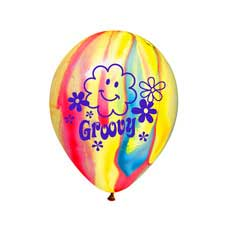 "Groovy 12"" Balloons"