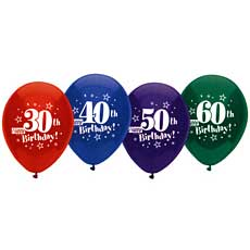 40th Happy Birthday Balloons 12""