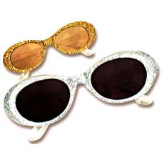 Glitter Retro Glasses