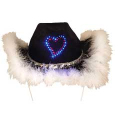 LED Heart Black Cowboy