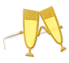 Gold Cheers Glasses