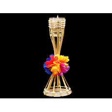 Bamboo Torch With Flower