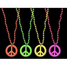 Neon Peace Sign Beads