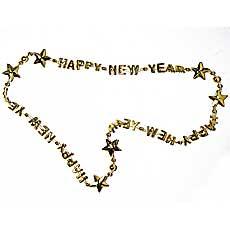 Gold Happy New Year Bead