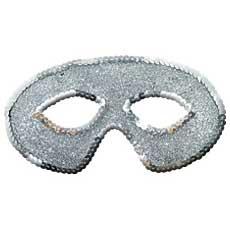 Silver Glitter Mask