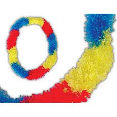 Tricolor Fringe Leis