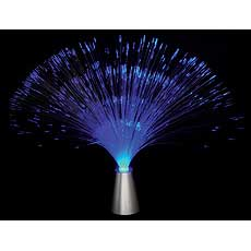 Silver Fiber Optic Lamp