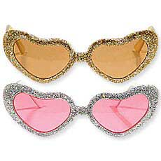 Glitter Heart Glasses