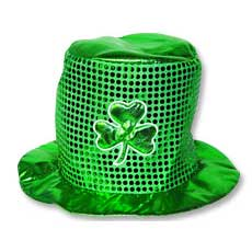 St Patricks Sequin Hat