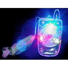 LED Cell Phone Necklace