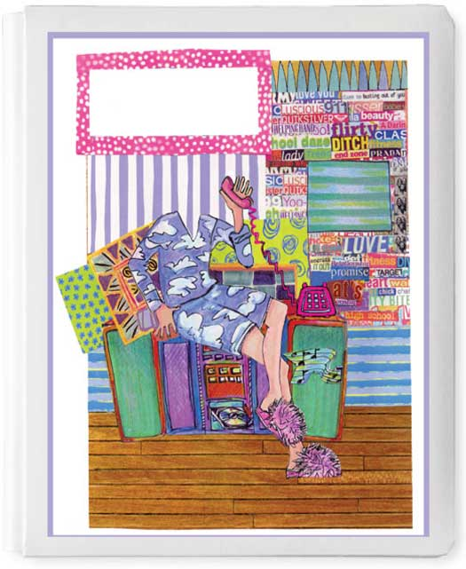 Personalized 3D Sign In Book, Fuzzy Pink Slippers / Fun for a pajama party