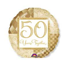 50th Anniversay Balloon / Complete the party with this 50th anniversary balloon